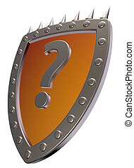 shield with question mark