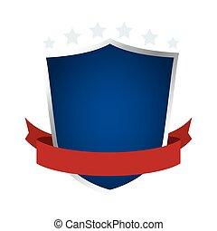 shield with ribbon emblem icon