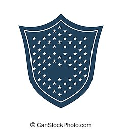shield with stars emblem icon