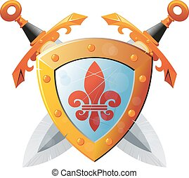 Shield With Swords
