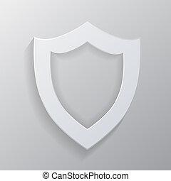 shield., witte , lege