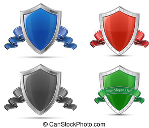 Shields and ribbons