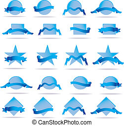 shields and ribbons. Vector