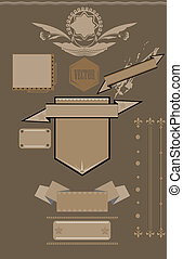 Shields, Labels And Banners