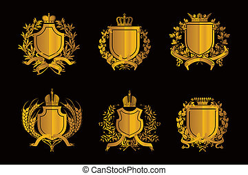 Shields, set of Design Elements