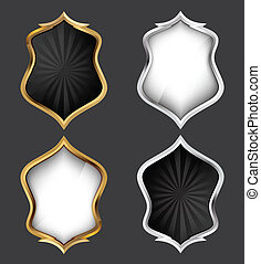 Shields Set. Vector