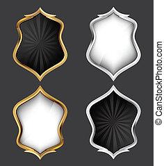 Shields Set. Vector