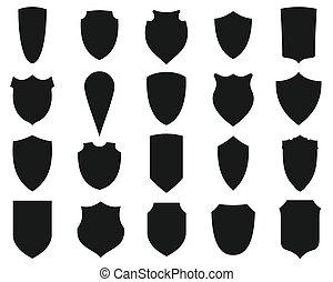 Shields silhouettes set