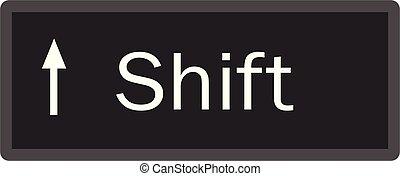 Shift computer key button on white background. flat style. Shift button symbol. shift key sign.