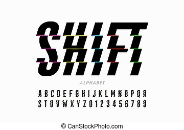 Shifted style modern font