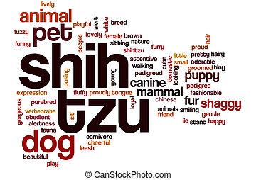 Shih tzu word cloud concept - Shih tzu word cloud