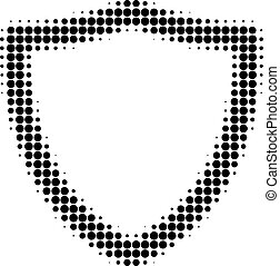 Shiled Halftone Dotted Icon