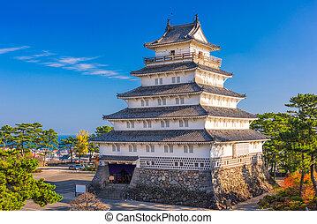 Shimabara Castle in Japan - Shimabara, Nagasaki, Japan...