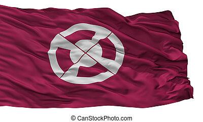 Shimabara City Flag, Japan, Nagasaki Prefecture, Isolated On...