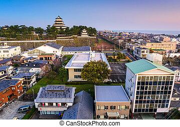 Shimabara, Japan skyline - Shimabara, Japan townscape at the...