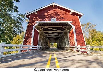 Shimanek Covered Bridge in Oregon