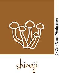 shimeji icon on brown square