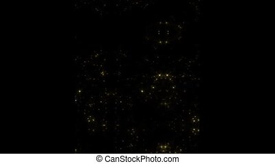 Shimmer of gold stars on black background HD 1920x1080