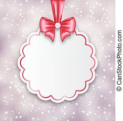 Shimmering background with celebration paper card for...