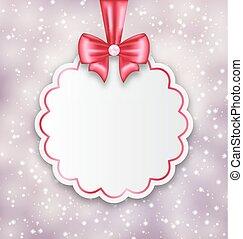 Illustration shimmering background with celebration paper card for Valentine Day - vector