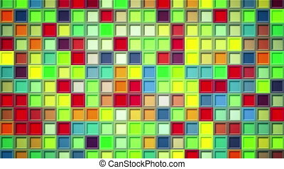 shimmering colorful squares loopable background