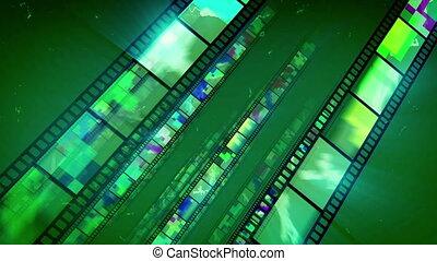 """Shimmering Diagonal Film Tape Movement "" - ""A splendid 3d..."