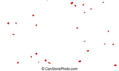 Shimmering particles web background. White background with red particles
