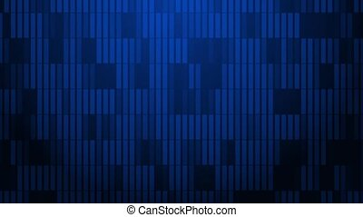 A pattern of rectangles slowly pulsate across the screen.