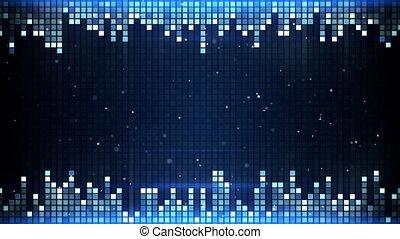 shimmering squares frame seamless loop