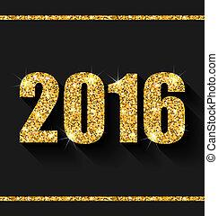 shimmering, vrolijke , nieuw, achtergrond, gouden, jaar, stof