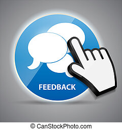 Shine glossy computer icon feedback with mouse hand cursors vector illustration