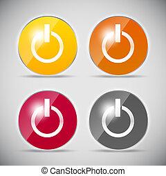 Shine glossy computer icon vector illustration