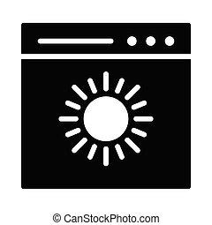 shine glyph icon