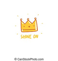 Shine on, vector crown character