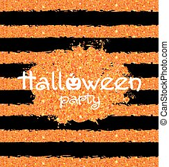 Shine Orange Wallpaper for Happy Halloween Party