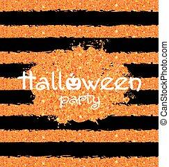 Shine Orange Wallpaper for Happy Halloween Party