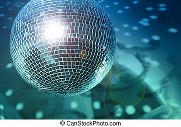 Shine - Shiny disco ball on night club close up