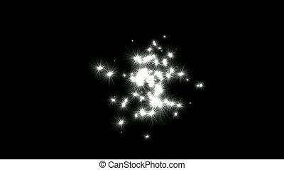 shine stars and dandelions flying in sky