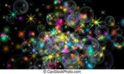 shine stars and soap bubble,firewor
