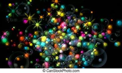 shine stars and soap bubbles