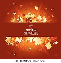 Shining autumn banner