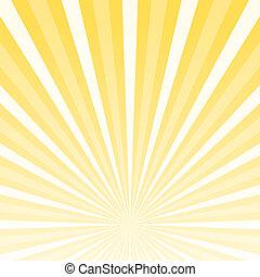 Shining Background Horizon - Striped Yellow and White...