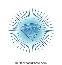 shining blue diamond
