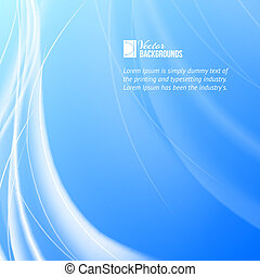 Shining blue flow. Vector illustration, contains...