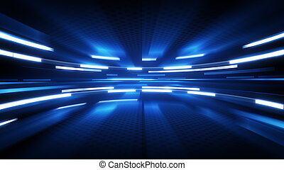 shining blue glow. computer generated abstract technology background