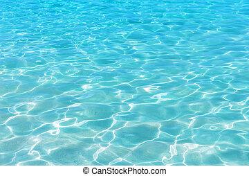 Shining blue water ripple background.