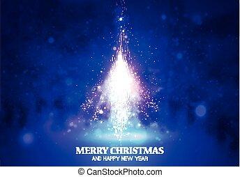 Shining Christmas tree.