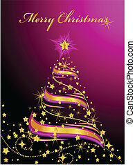Shining Christmas Tree - Vector illustration of an abstract...
