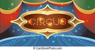 Shining circus poster