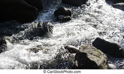 Shining creek - Flow of the river which reflected sunlight...